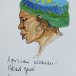 African Woman's Headgear