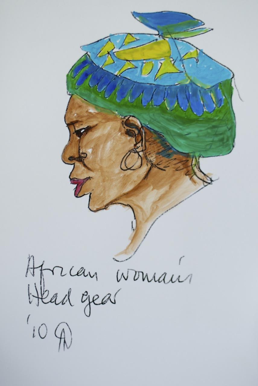 African Woman's Headgear